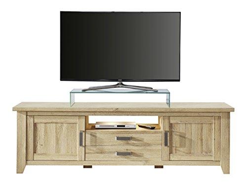trendteam smart living Canyon Wohnzimmer Lowboard Fernsehschrank, alteiche dekor, 189 x 57 x 48 cm