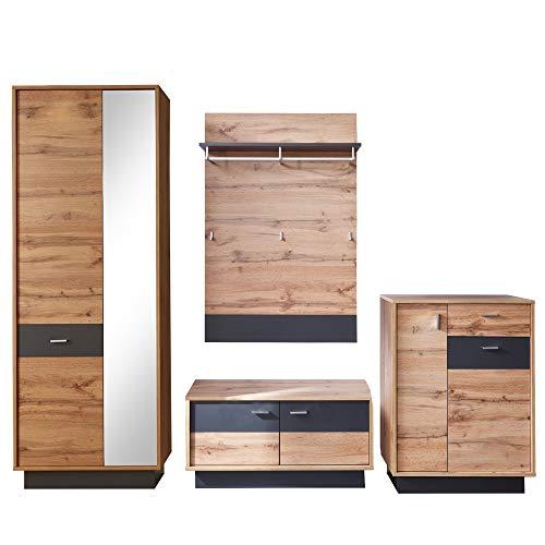 trendteam smart living Garderobe Sitzbank Kommode Schuhschrank Coast