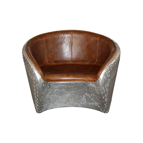 Aviator Lounge Chair Leder braun