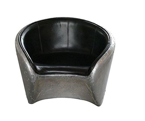 Aviator Lounge Chair Leder schwarz