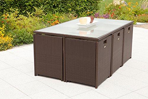 MERXX Gartenmöbel-Set Bozen 13-tgl. Gartensessel mit Rücken- und Sitzkissen, Tisch
