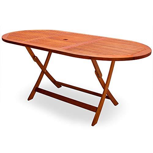 Deuba Gartentisch Esstisch Alabama Klappbar I FSC®-zertifiziertes Akazienholz I 160 x 85cm Holztisch Garten Gartenmöbel