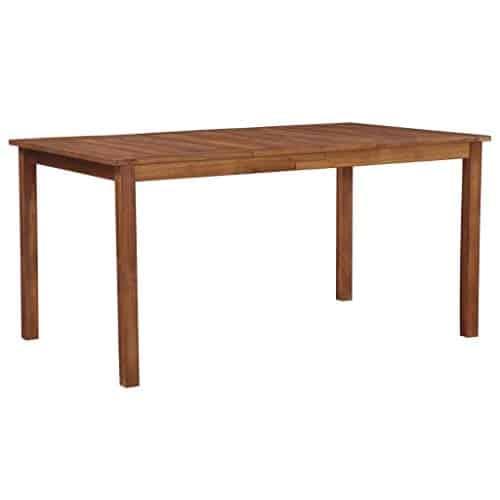 Festnight Garten-Esstisch | Rechteckig Esszimmertisch | Gartentisch | Terassentisch | Holz Tisch | Balkon Esstisch | Massives Akazienholz 150×90×74 cm