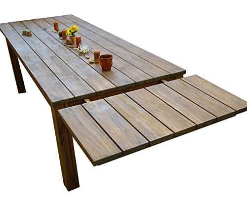 GRASEKAMP Qualität seit 1972 Verlängerung 50x100cm für den rustikalen Holztisch Akazie Gartentisch