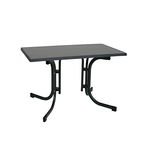 Ribelli Klapptisch Esstisch Gartentisch 110x70x70cm - klappbarer Tisch höhenverstellbar für den Garten, als Beistelltisch oder Campingtisch mit Niveauregulierung witterungsbeständig
