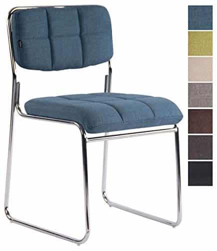 CLP Besucherstuhl GERA mit hochwertiger Polsterung und Stoffbezug I Stapelstuhl mit gepolsterter Sitzfläche und Rückenlehne