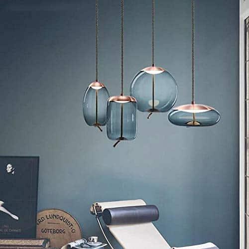 Moderne Duplex Dining Bar Seil Design Glas Pendelleuchten Wohnzimmer Küchenarmaturen Pendelleuchte Leuchte Luminaria