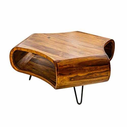 Massiver Couchtisch Organic Living Sheesham Palisander Hairpin legs Retro Wohnzimmertisch Tisch Holztisch