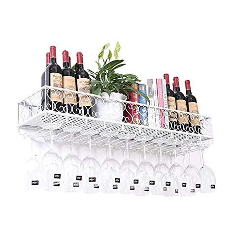Wohnwände Weinregale Halter Flasche Ledge den Kopf gestellt Weinglas Rack-Becher Rack-Traube (weiß) Lagerungsrack