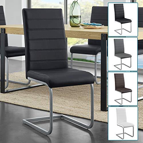 ArtLife Freischwinger Stuhl Vegas | 2er oder 4er Set | Kunstleder + Metall | 120 kg | 4 Farben | Küchenstühle Polsterstühle Esszimmer