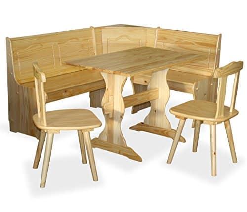 KMH®, 4-teilige Eckbankgruppe *Daniela* aus massivem Holz im Landhausstil (#201120)