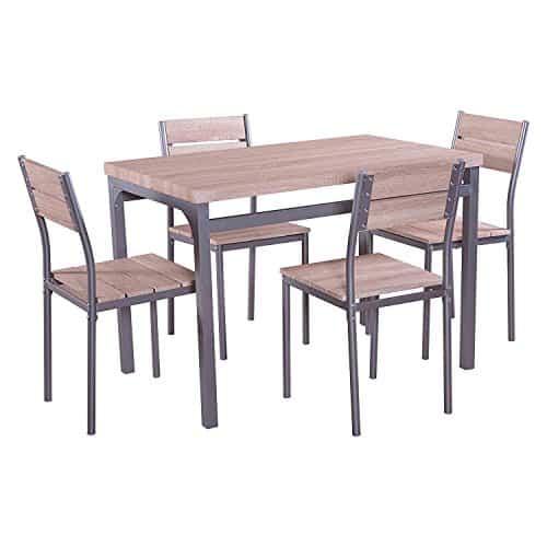 MACOShopde by MACO Möbel Esstischgruppe Sitzgruppe mit 4 Stühlen und Esstisch