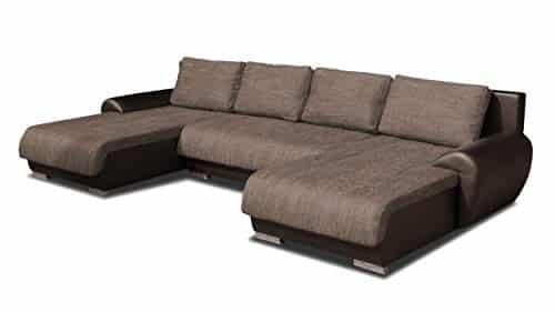 Wohnlandschaft Eckcouch Ecksofa Otis - Big Sofa, Couch mit Schlaffunktion und Bettkasten, U-Sofa, U-Form, Große Farbauswahl