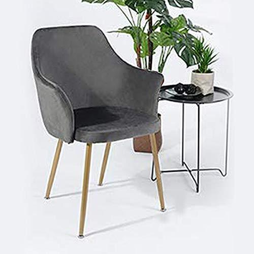 H.J WeDoo 1er Set Esszimmerstuhl samt weich Kissen Sitz und Rücken mit Massivholz Bein Küche Stühle Lounge Sessel Clubsessel Fernsehsessel