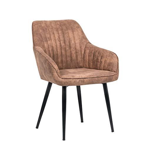 Riess Ambiente Edler Design Stuhl Turin Farbwahl mit Armlehne Esszimmerstuhl Küchenstuhl