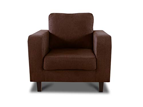 Sessel Kera - Couch, Couchsessel, Loungesessel, Stühl, Holzfüße, Velours Stoff, Couchgarnitur