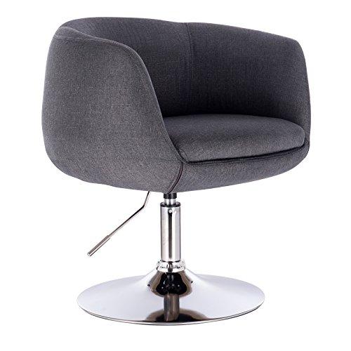 WOLTU #1083 1 x Barsessel Loungesessel mit Armlehne, stufenlose Höhenverstellung, Leinen