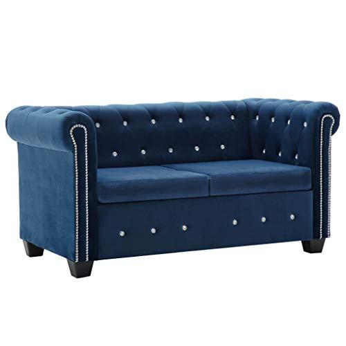 vidaXL Chesterfield Sofa 2-Sitzer Samt Polstersofa Loungesofa mehrere Auswahl