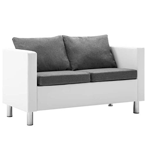 vidaXL Sofa 2-Sitzer Kunstleder Ledersofa Loungesofa Polstersofa Sitzmöbel
