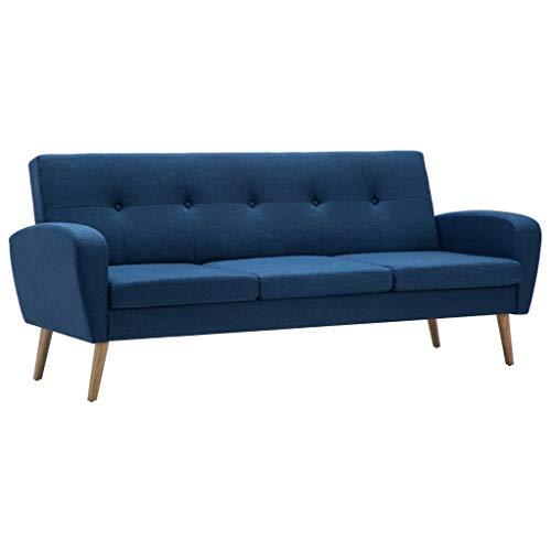 vidaXL Sofa 3-Sitzer Stoff Designersofa Polstersofa Stoffsofa mehrere Auswahl