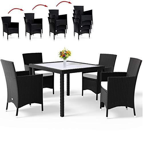 Deuba Polyrattan 4+1 Sitzgruppe - Farbauswahl
