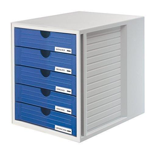 HAN 1450 Schubladenbox SYSTEMBOX, DIN A4 und größer, 5 geschlossene Schubladen