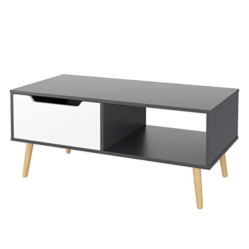 Homfa Couchtisch Wohnzimmertisch Sofatisch Kaffeetisch TV Board lowboard 100x49.5x43cm