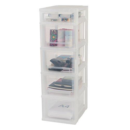 Iris, Schubladenschrank/Schubladenbox/Rollwagen/Rollcontainer/Werkzeugschrank 'Smart Drawer Chest', SDC-314, mit Rollen, Kunststoff, Schwarz/Transparent