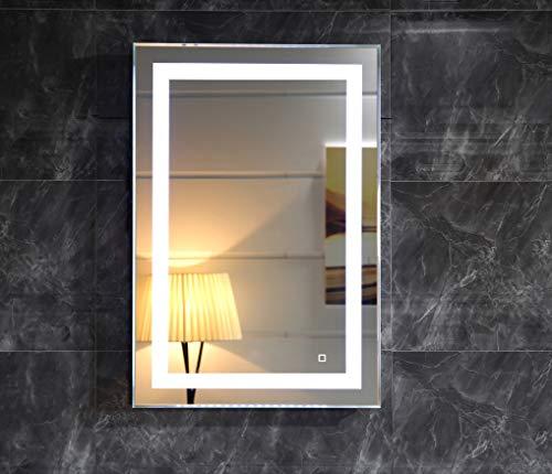LED-Beleuchtung Badspiegel Lichtspiegel Wandspiegel Badezimmerspiegel Kaltweiß Tageslichtweiß