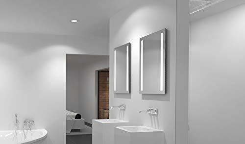 LED-Spiegel Talos Light- Warmweiß beleuchteter Spiegel für Das Badezimmer - Glas-Beleuchtung für Angenehmes Licht im Bad - Modernes Design und Hochwertige Beschichtung