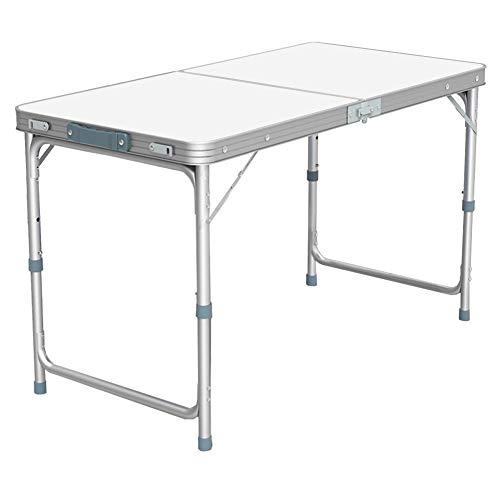 Nestling® Garten im Freien Aluminium tragbare Klapp Camping Picknick Party Feld Küche BBQ Tisch Extra Stärke Portable Indoor Outdoor,Höhenverstellbar