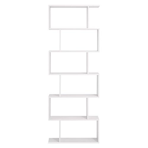 VASAGLE Bücherregal Regal, Standregal zur Präsentation, freistehende Schrank, Dekoregal mit 6 Ebenen