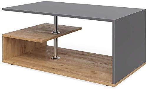 Vicco Couchtisch Guillermo Wohnzimmertisch Beistelltisch Holztisch Kaffeetisch 90 x 50 cm