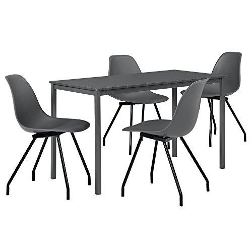 [en.casa] Esszimmerset mit Tisch und 4 Stühlen