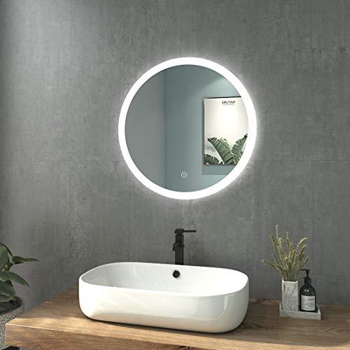 welmax Badspiegel mit Beleuchtung LED Badezimmerspiegel Wandspiegel Lichtspiegel Wasserdicht IP44, Energieklass A++