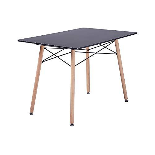 H.J WeDoo Rechteckig Esstisch Buchenholz Esszimmertisch Küchentisch Tisch MDF