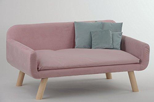 animal-design Hundesofa New mit Kissen Polstersofa Couch Hundebett Katzenbett Schlafplatz für Hunde und Katzen versch. Farben, Farbe:rosa