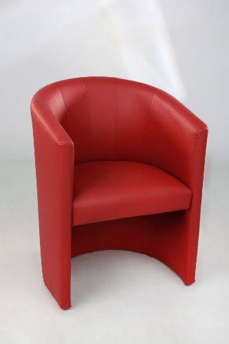Cocktailsessel Design Sessel Clubsessel Loungesessel Club Möbel Bürosessel Praxismöbel rot